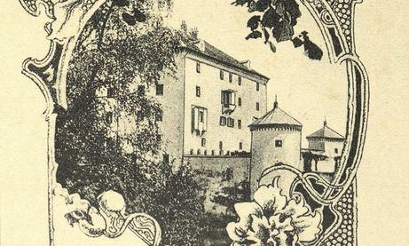 razglednica grad Snežnik izrez