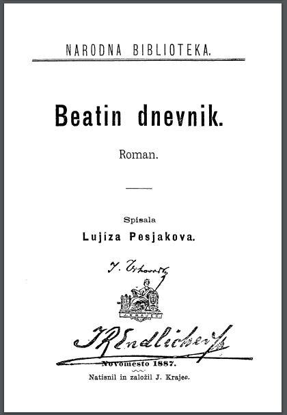 Beatin dnevnik iz leta 1887