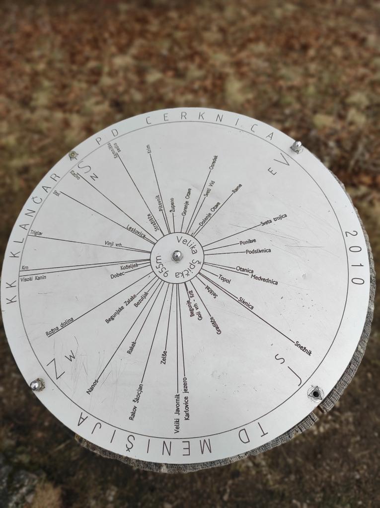 kompas razgledov na vrhu